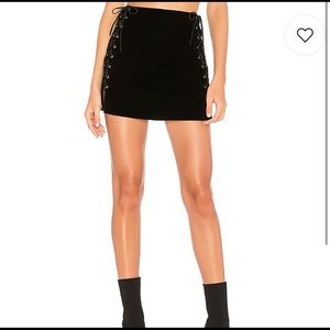 By the Way Black Lace-Up Skirt✨